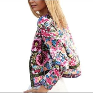 💋Beautiful open front, long sleeve  floral jacket